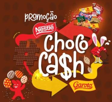 Cadastrar Promoção Choco Cash Nestlé Garoto 50% Dinheiro de Volta - Chocolates