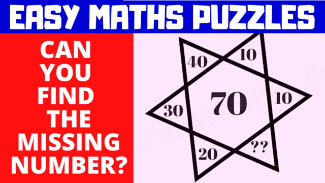 Can you solve these easy Maths Puzzles?