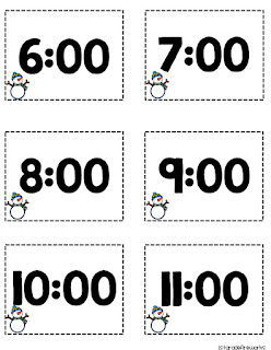 Time cards for WHAT TIME IS IT?