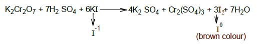 potassium iodide oxidizes into iodine