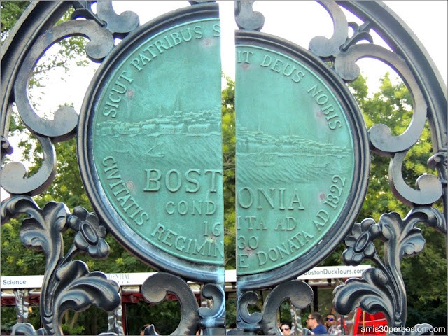 Sello en la Puerta del Boston Public Garden