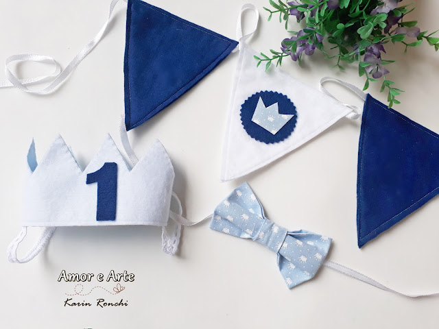 Props para Smash The Cake! Kit Azul!