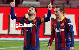برشلونة 5-1 الافيس: ليونيل ميسي يسجل هدفين في انتصار مريح