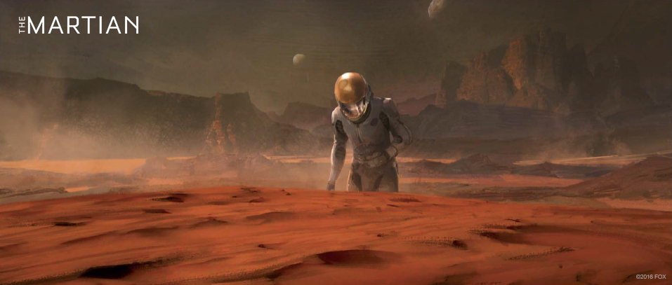 Concept art for The Martian - Mark Watney alone