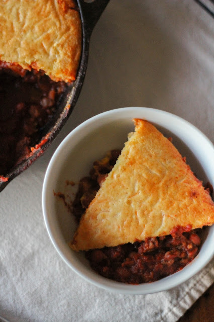 Skillet Cornbread & Chili Pie | The Chef Next Door