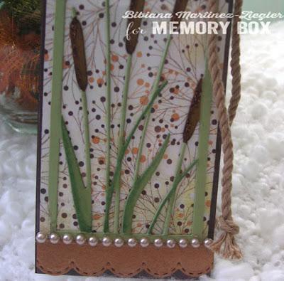 cattails bookmark