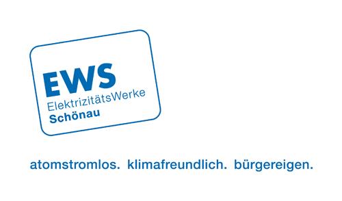 Logo der Elektrizitätswerke Schönau: atomstromlos - klimafreundlich - bürgereigen