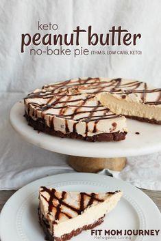 No-Bake Keto Peanut Butter Pie