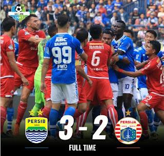 Video Highlights Tiga Gol Persib Bandung ke Gawang Persija Jakarta