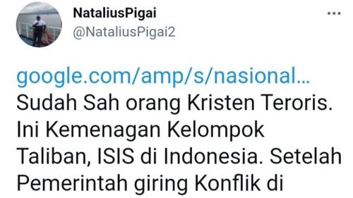 Tuding Pemerintah Soal Papua, Natalius Pigai: Sah Orang Kristen Teroris