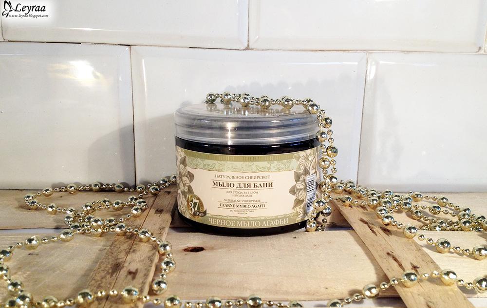 BABUSZKA AGAFIA Naturalne syberyjskie czarne mydło do pielęgnacji ciała i włosów 500 ml