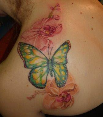 Foto Tattoo Design Butterfly Kupu Di Tubuh Wanita 34