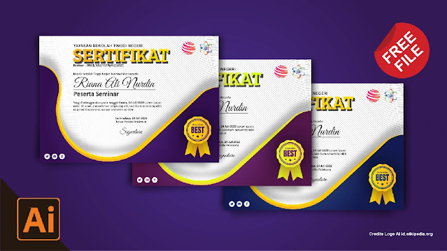 Download Kumpulan Contoh Sertifikat Seminar Dan Pelatihan CorelDraw Dan Illustrator