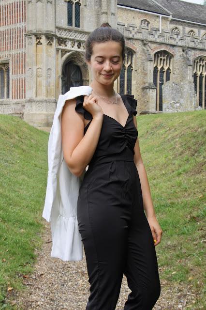 Black Strappy Wide Leg Cut Out Jumpsuit - Nova Femme Luxe
