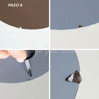 Espejo para maquillaje DiY - Paso 6