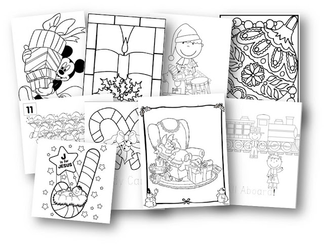 FREE Chrsitmas Coloring Pages