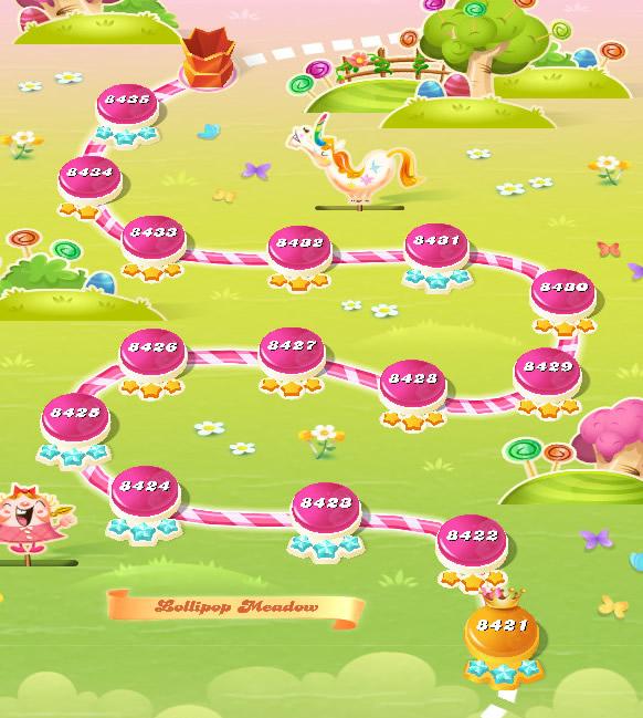 Candy Crush Saga level 8421-8435
