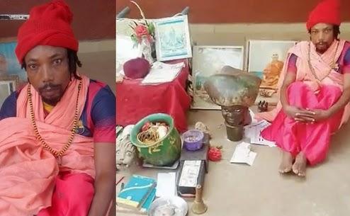 A false Hindu monk defrauds a merchant of N167,000