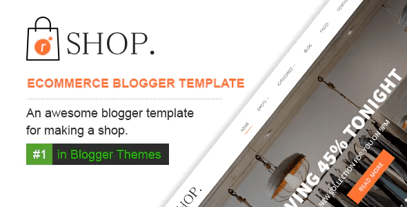 Professional Responsive Blogger Templates   eCommerce Blogger Templates
