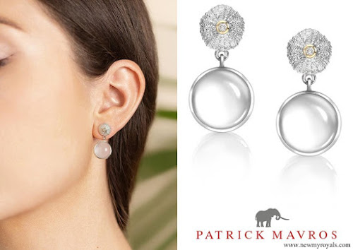 Kate Middleton wore Patrick Mavros Ocean Tides Milky Quartz earrings