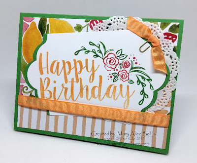 Big on Birthdays, with Fruit Stand Designer Series Paper, Stampin' Up!