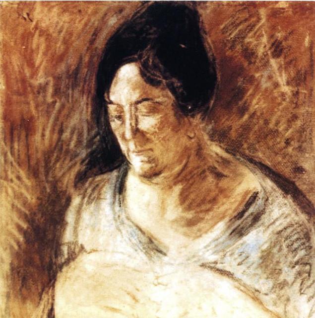 Salvador Dali, portrait of the artist's mother, 1920