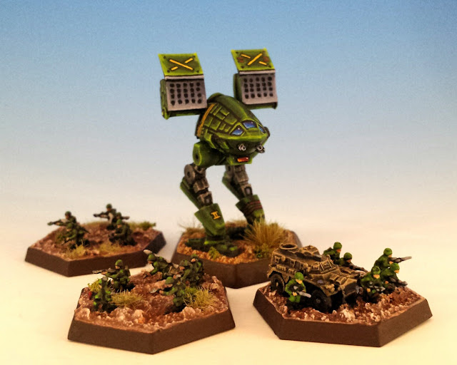 Painted Foot Infantry for Battletech