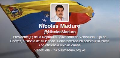 """El presidente encargado de la República Bolivariana de Venezuela, Nicolás Maduro, ya tiene cuenta en Twitter, @NicolasMaduro. Así lo informó, Andrés Izarra, exministro de Comunicación en información, """"Bienvenido@NicolasMaduro a la candanga! Comencemos a seguirlo. Esta tarde se inaugura!"""". La cuenta del Presidente Encargado, será inaugurada la tarde de este domingo. Asimismo cabe destacar que Maduro también se encuentra en facebook, y puede localizarse bajo el nombre Nicolás Maduro Presidente."""