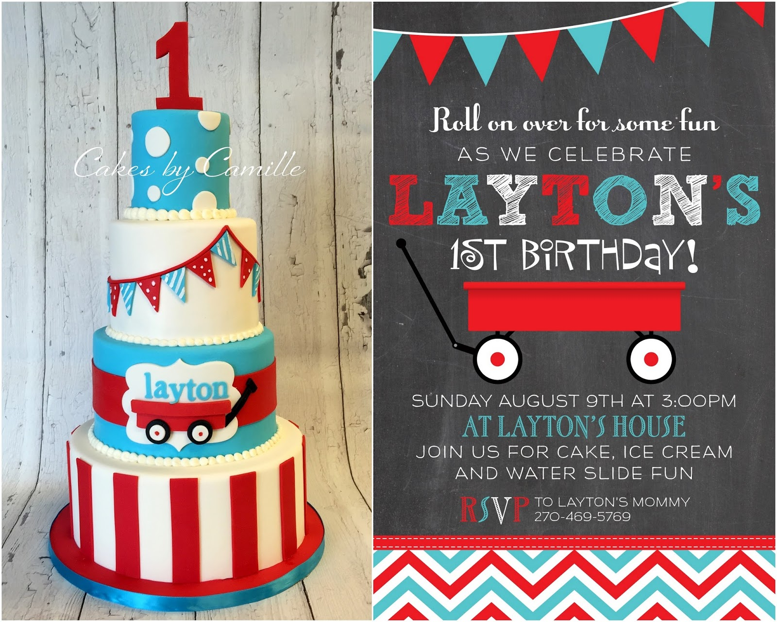 Little Red Wagon First Birthday Bash