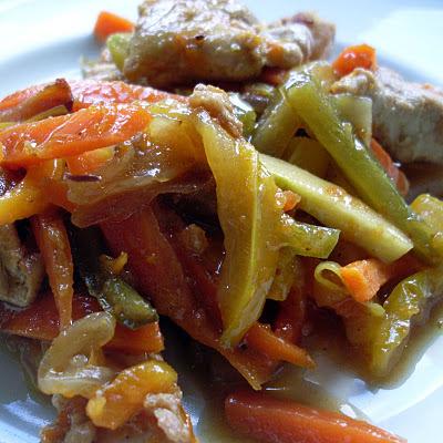 atún con verduras