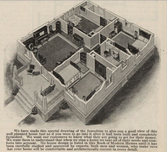 floor plan for Sears Josephine 3-D