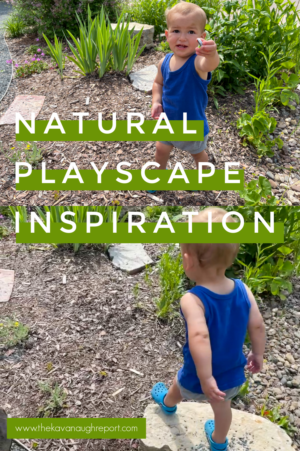 Here is some inspiration for a Montessori inspired natural playscape and backyard playground.