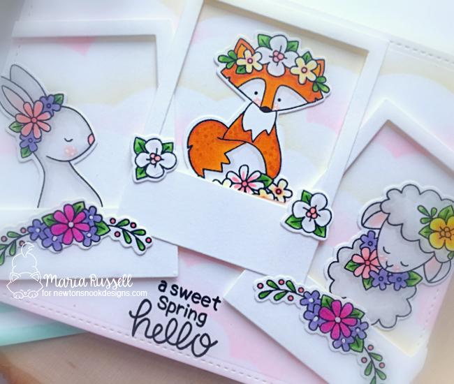 A Sweet Spring Hello Card by Maria Russell | Woodland Spring Stamp Set by Newton's Nook Designs #newtonsnook #handmade #spring