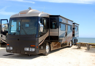 large pop out RV