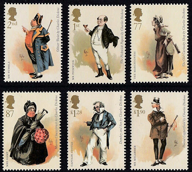 Great Britain - Charles Dickens Bicentenary. Stamps Set 2012