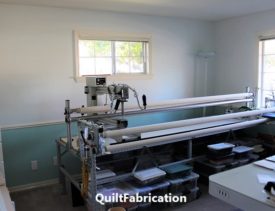 bare walls of QuiltFabrication studio