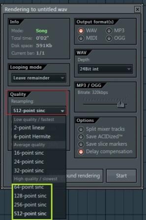 Tips render di fl studio 11 agar tebal suaranya