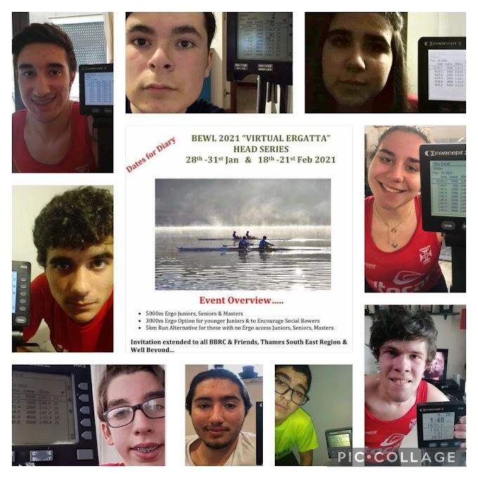 Ginásio participa em regata virtual de remo