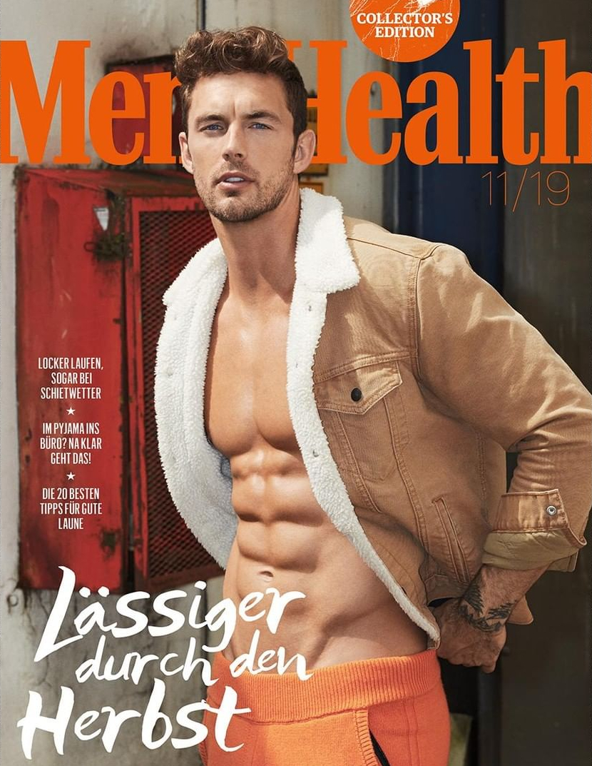 Christian Hogue para Men's Health Alemania Noviembre 2019