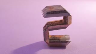 how to make money 3d origami alphabet S tutorials hướng dẫn cách làm chữ S bằng tiền giấy