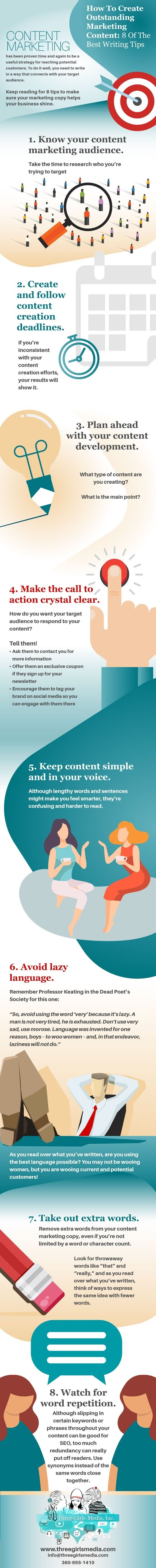 8 Top Writing Tips You Need To Know For Successful Content Marketing #infographic