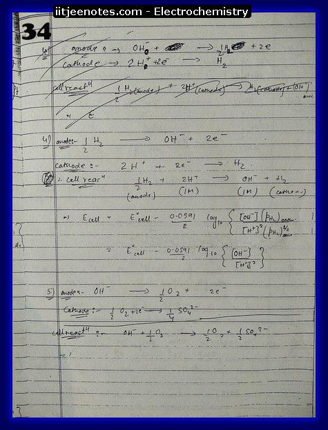 Electrochemistry Notes IITJEE4