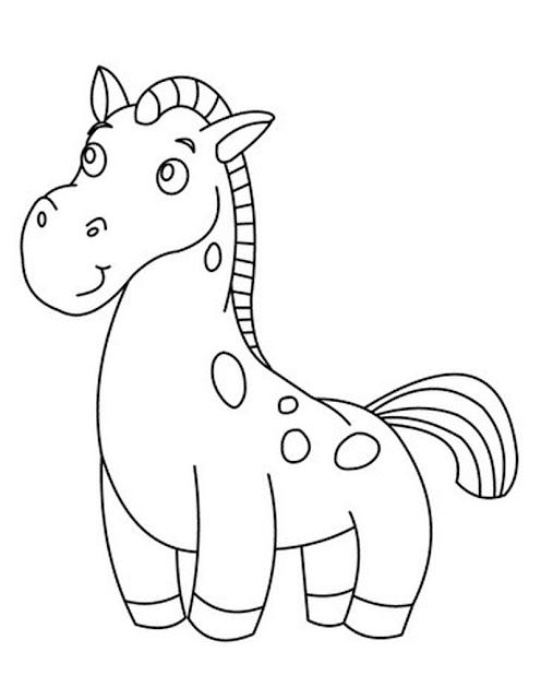 Gambar Mewarnai Kuda Poni - 4
