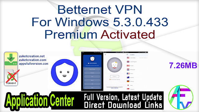Betternet VPN For Windows 5.3.0.433 Premium Activated