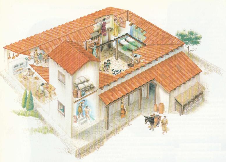 Imperio Romano Muestra De Vivienda Normal De Ciudadano Griego: como eran las casas griegas