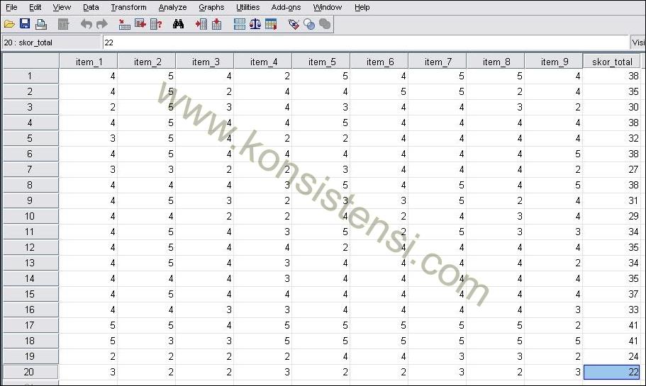 Uji Validitas Data Dengan SPSS Rumus Correlated-Item