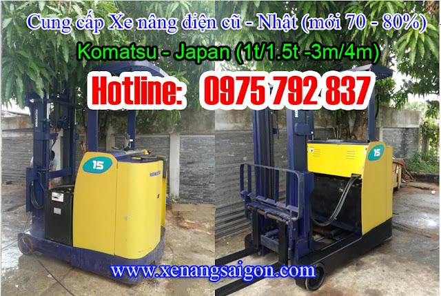 Xe nâng điện cũ Komatsu 1. 8t - 3m, 1. 5t-3m, giá cực rẻ (Lh 0975 792 837)