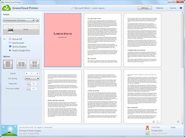 Screenshot GreenCloud Printer Pro 7.8.6.2 Full Version