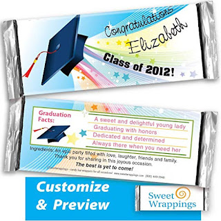 image of personalized graduation candy bar wrapper