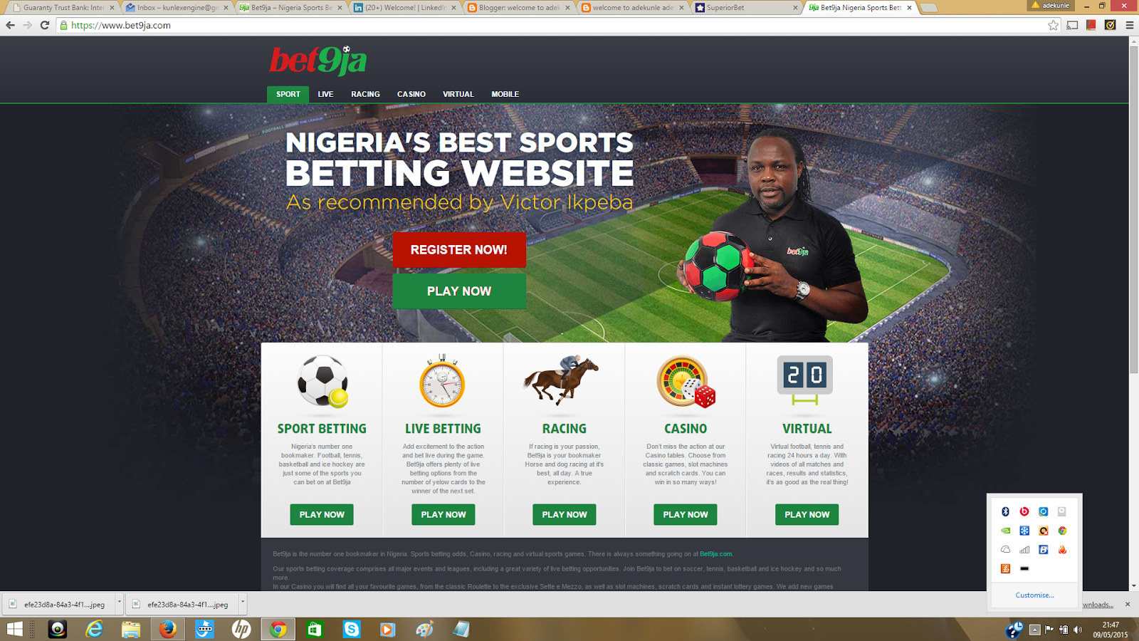 Bet9ja website got a new look